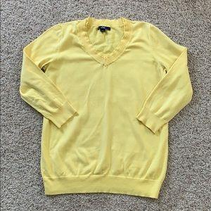 Anne Klein V Neck Sweater Size S